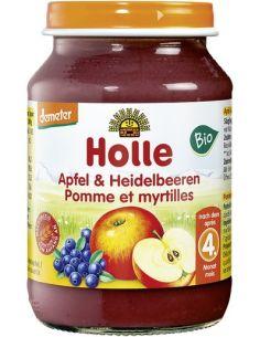 Deser jabłko / czarna jagoda słoik 190g*HOLLE*BIO DEMETER