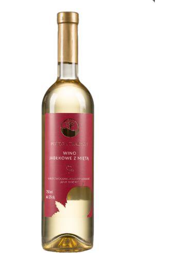 Wino jabłkowe z mietą białe / słodkie...