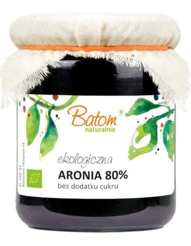 Dżemik aroniowy 80% bez dodatku cukru 260g BATOM BIO