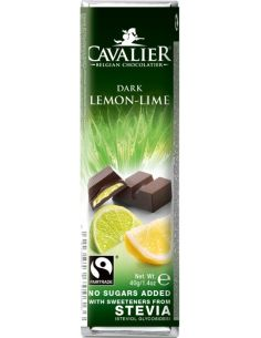 Baton deserowa czekolada / nadzienie cytrynowow- limonkowe słodzony stewią 40g*CAVALIER*