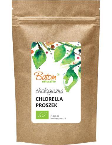 Chlorella proszek 100g BATOM BIO