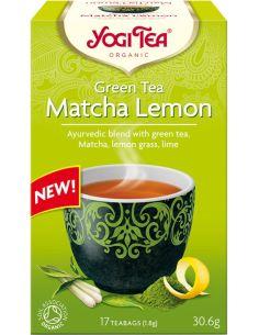 Herbata **Matcha Lemon** zielona ekspres 17T*YOGI TEA*BIO