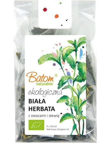 Herbata biała z owocami i stewią 15szt BATOM BIO TERMIN:  01.04.2021