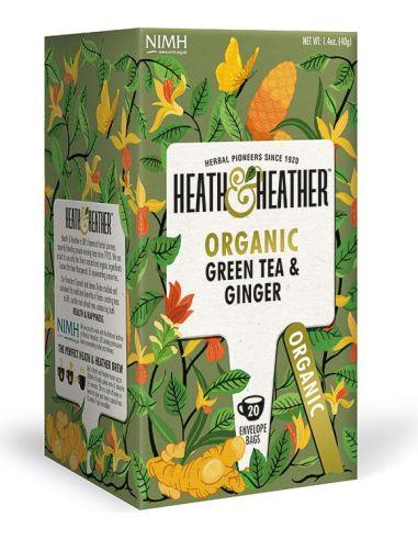 Herbata zielona / imbir ekspres 20T*HEATH HEATHER*BIO