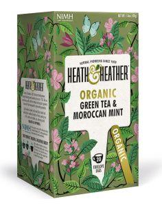 Herbata zielona / mięta marokańska ekspres 20T*HEATH HEATHER*BIO